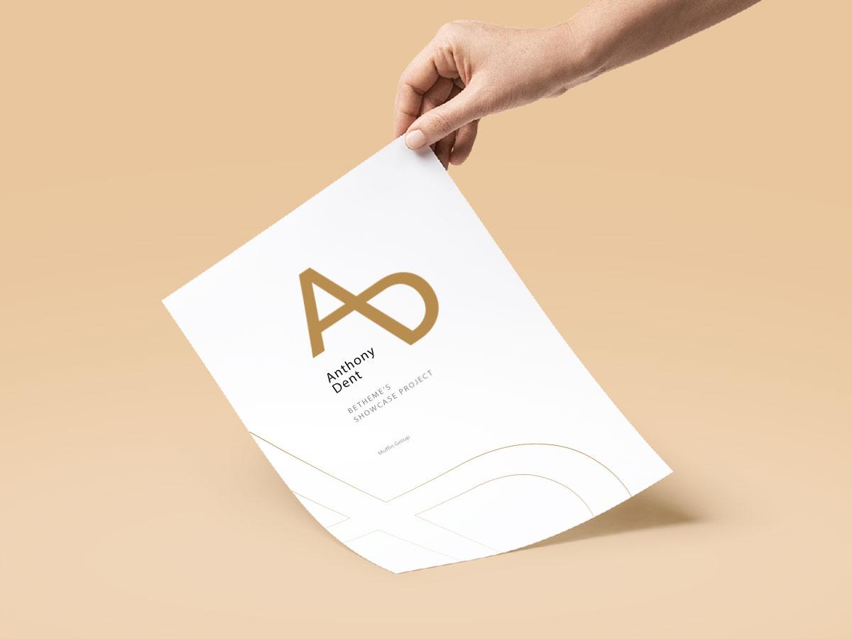 Portfolio with Intro Header